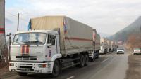 34 грузовика из гуманитарного конвоя вернулись из Украины в Россию